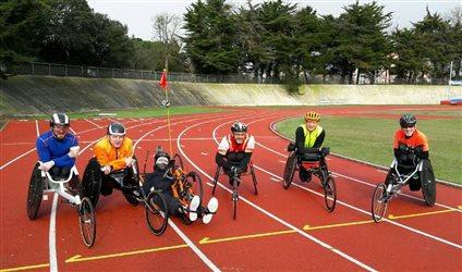 Les meilleurs athlètes handi en fauteuil de l'ouest en stage aux Sables d'Olonne !